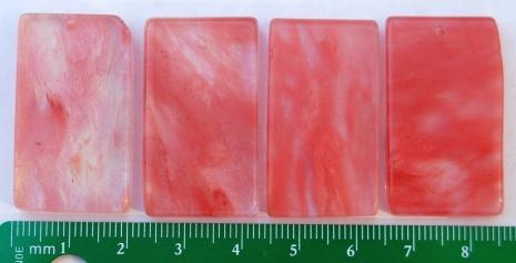 Strawberry Quartz Focal Bead Rectangle Pendant Cherry Pink
