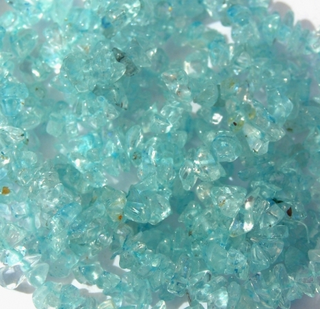 Aquamarine blue chip beads