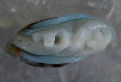 Carved Lifelike Amazonite Fish Totem