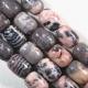 Pink Gray Zebra Jasper Drum Beads
