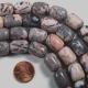 Pink Gray Marble Zebra Jasper Drum Beads