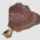 Crystal Druzy Pendant Gold Geode Natural Plum Purple