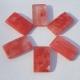 Strawberry Quartz Focal Bead Rectangle Pendant Cherry Pink 20x35mm