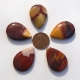 Mookaite Teardrop Focal Bead