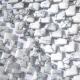 Howlite Puff Square Beads White Gray Diagonally Drilled