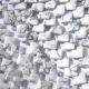 Howlite Puff Square Beads White Gray Diagonally Drilled