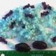Aquamarine and Amethyst Purple Quartz Chip Lariat (Dyed)