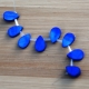 Cobalt Blue Stone Flat Teardrop Beads (Dyed)