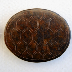 Vintage Jade Focal Bead Carved Turtle Back