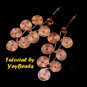 PDF TUTORIAL Egyptian Coils Dangle Earrings DIY How To