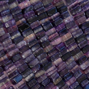 Square Amethyst Heishi Beads